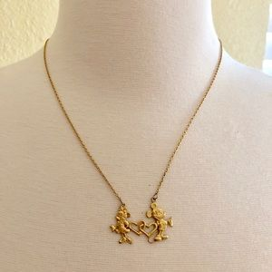 Vintage Disney Mickey and Minnie necklace